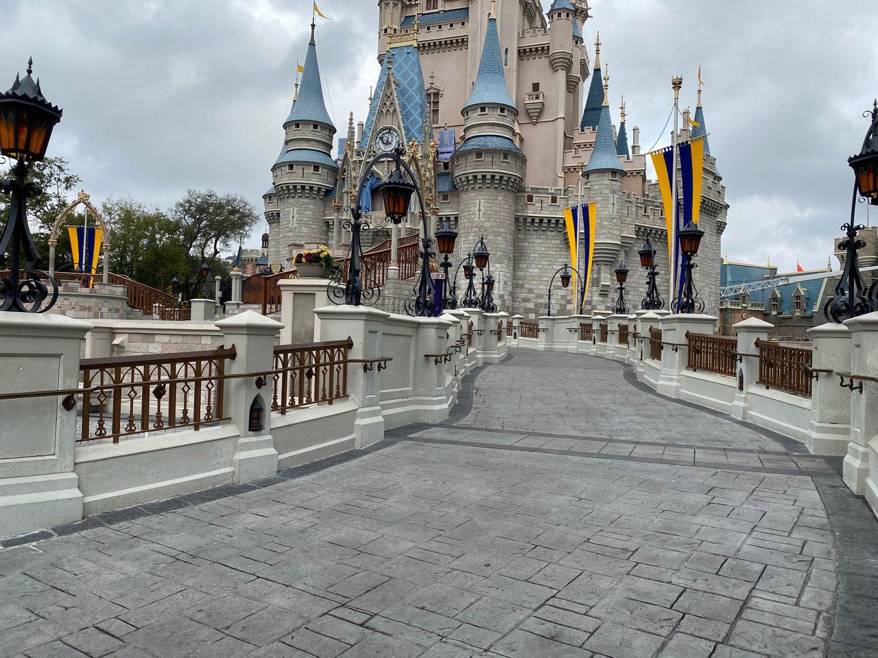 Magic Kingdom Castle Ramp, Pilasters & Caps