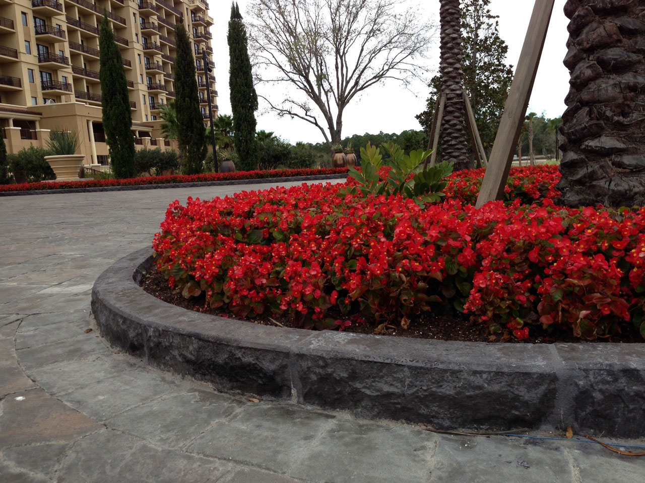 Four Seasons Orlando Motor Court Curb in ChiselStone Texture