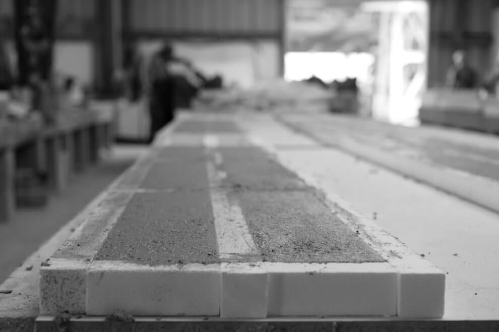 Concrete in the Molds