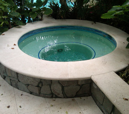 Naples Beach Residence Spa Coping and Pavers